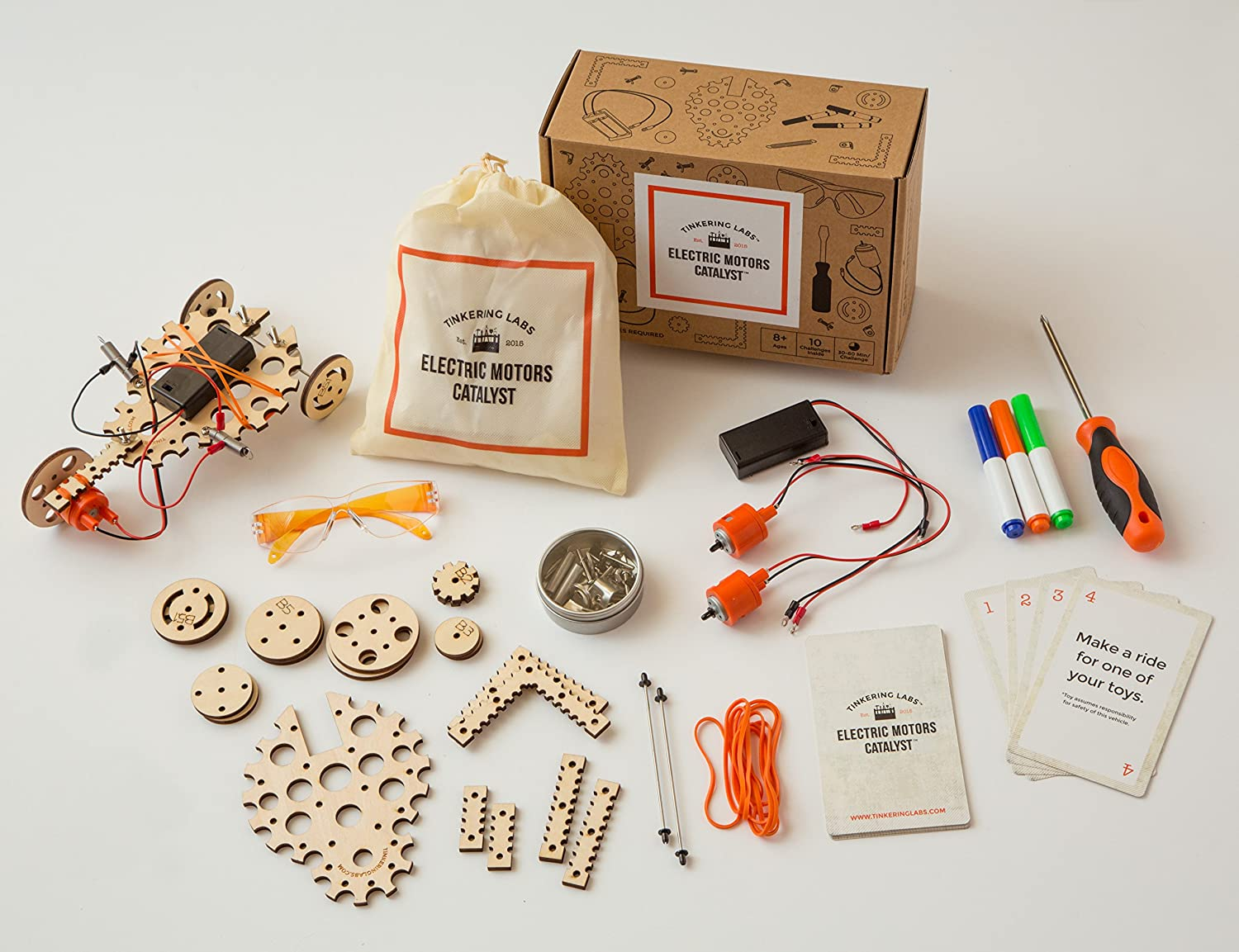 Tinkering Labs Electric Motors Catalyst Stem Kit Intro Science Electricity Simple Circuit Fundamental Photographs The Art To Engineering Robotics Building Projects For Kids And Teens Diy