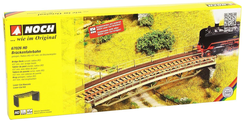 Ponte curvo per modellismo ferroviario Noch 21350