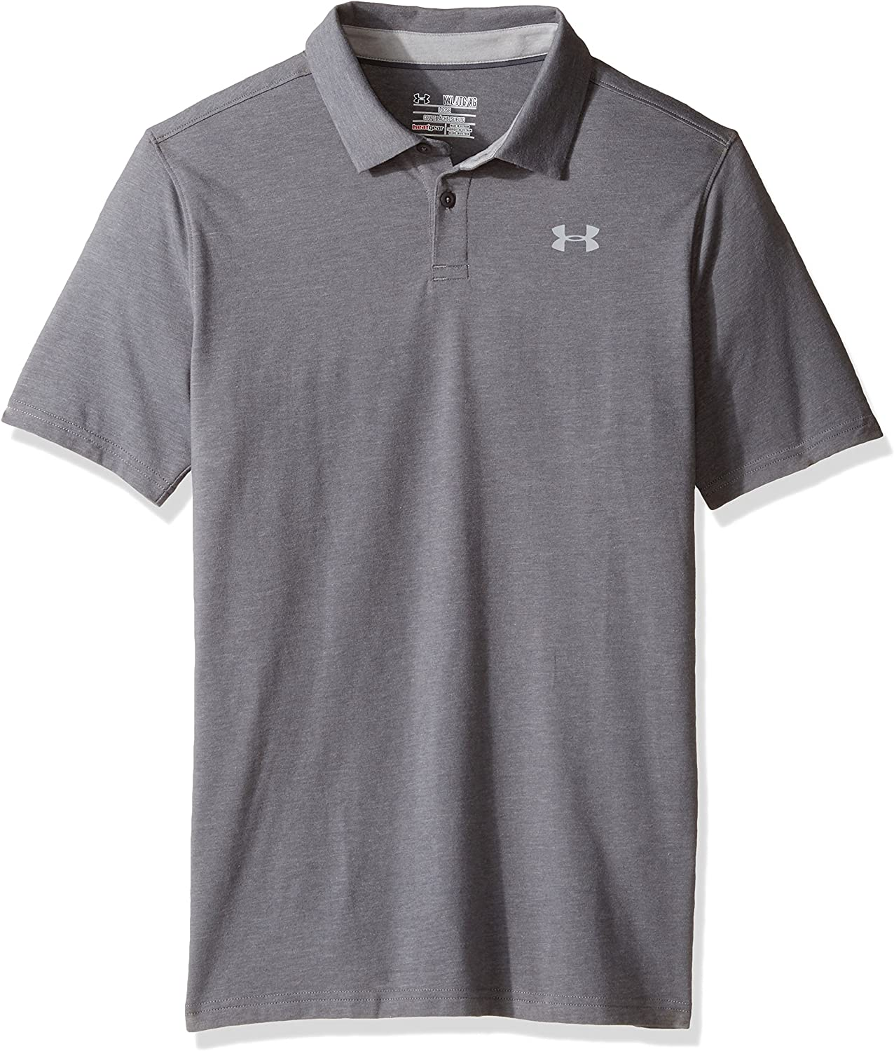 Under Armour Boys Charged Cotton Heather Polo Short Sleeves Short Sleeve Shirt
