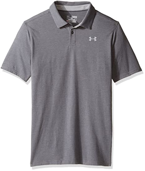 Under Armour Chicos Charged Cotton Heather Polo de Manga Corta ...