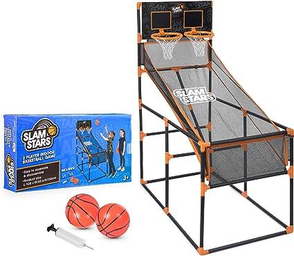 Slam Stars TY6005 Juego de Baloncesto para niños, Juego de 2 Jugadores para Interiores y Exteriores, con Tablero de aro, Color Negro: Amazon.es: Juguetes y juegos