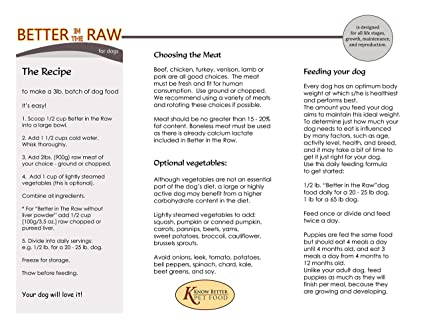 Amazoncom Better In The Raw For Dogs Make Your Own Balanced Raw