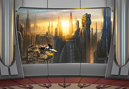 Star Wars Coruscant View Jigsaw Puzzle Disney Photo Wallpaper Wall Paper Mural 368x254 Cm Pack Of 8 Included Are A Pack Glue And Instructions Will Be In English Amazon Co Uk Kitchen