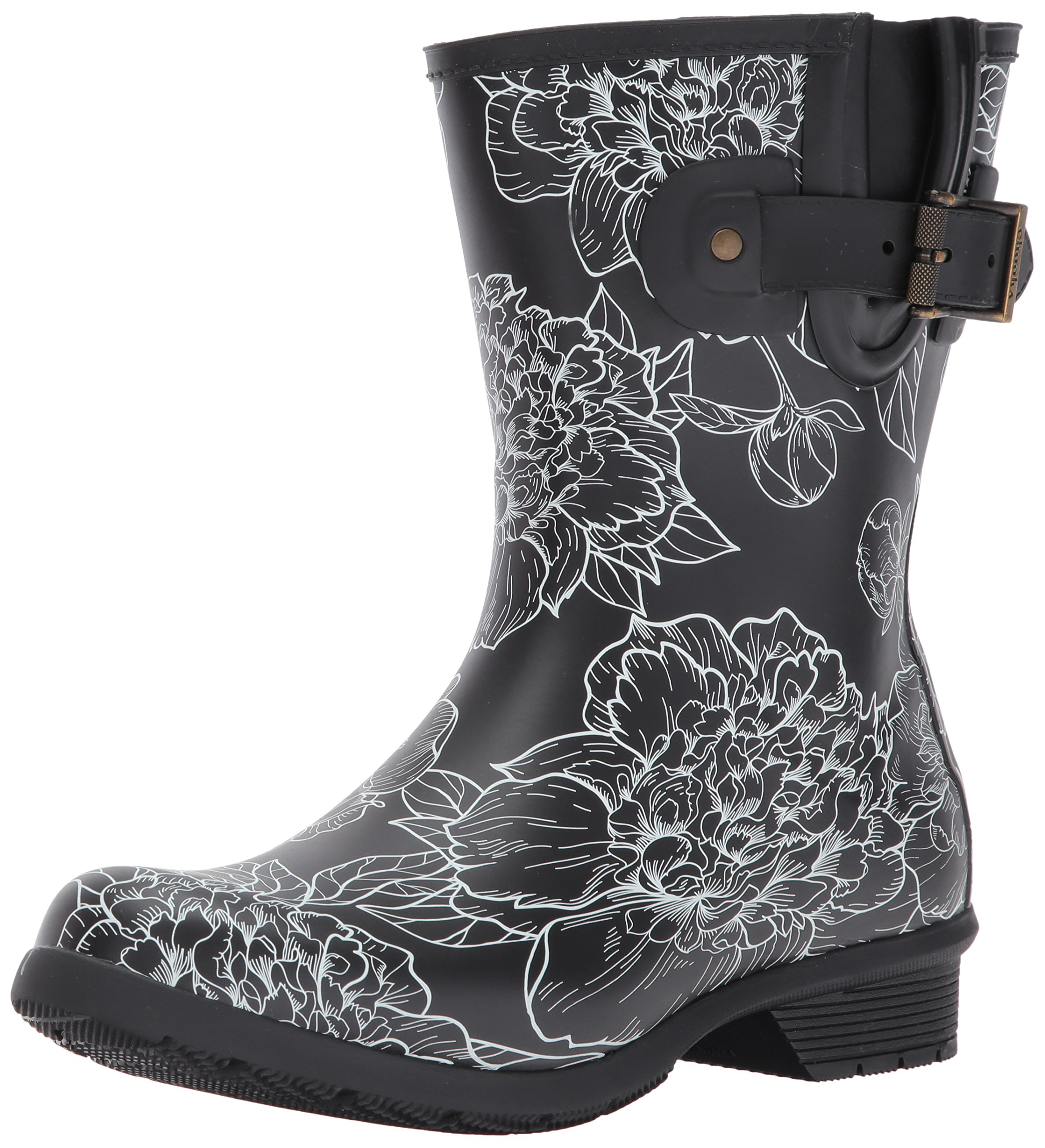 Chooka Women's Waterproof Mid-Height Printed Memory Foam Rain Boot, Cora, 9 M US