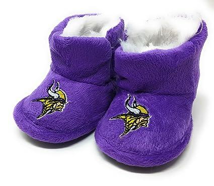 Amazon.com  NFL Minnesota Vikings Infant Baby High Boot Slipper Shoe ... 28598571f