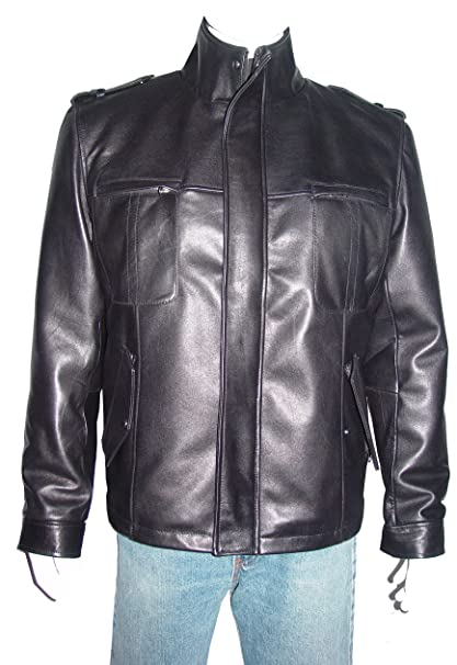 e2385ef1bfb NETTAILOR Tall Big Man 1160 Big Tall Size 4 Season Leather Jacket Zip Out  at Amazon Men s Clothing store