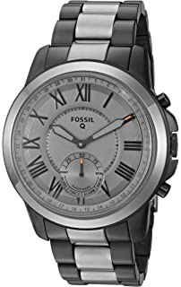 b986df9b9 Fossil Q Men's Grant Stainless Steel Hybrid Smartwatch, Color: Grey (Model:  FTW1139