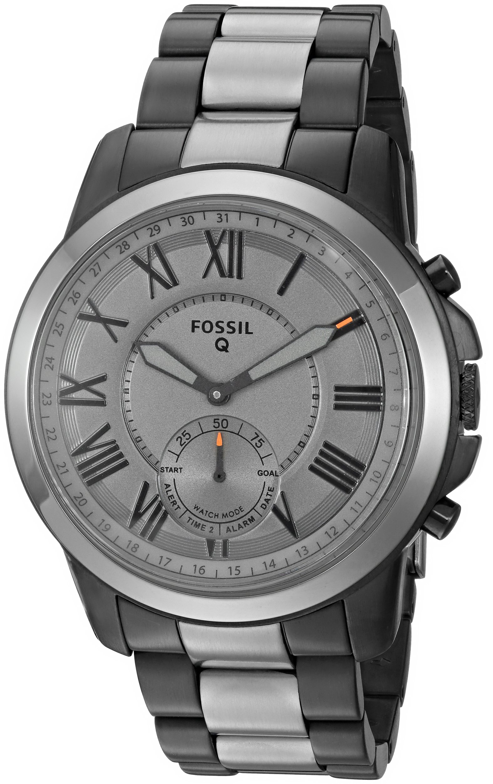 Fossil Q Men's Grant Stainless Steel Hybrid Smartwatch, Color: Grey (Model: FTW1139) by Fossil