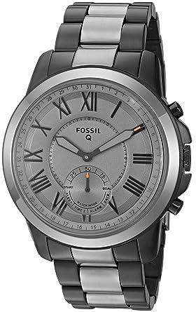 Amazon Com Fossil Q Men S Grant Stainless Steel Hybrid Smartwatch