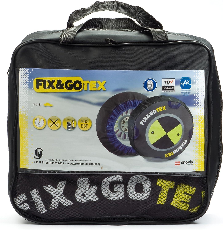 Fix/&Gotex 8ZFJ Cha/înes /à Neige en Tissu pour Voiture Taille J