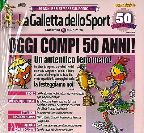 Biglietto Auguri Giornale Cm 32x49 50 Anni Marta Lupo Alberto