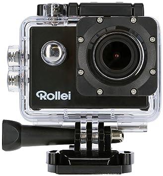 Rollei Actioncam 510 - Potente videocámara de acción con Wi-Fi y resolución de vídeo de 1080p/30 fps, incl. carcasa protectora subacuática - Negro