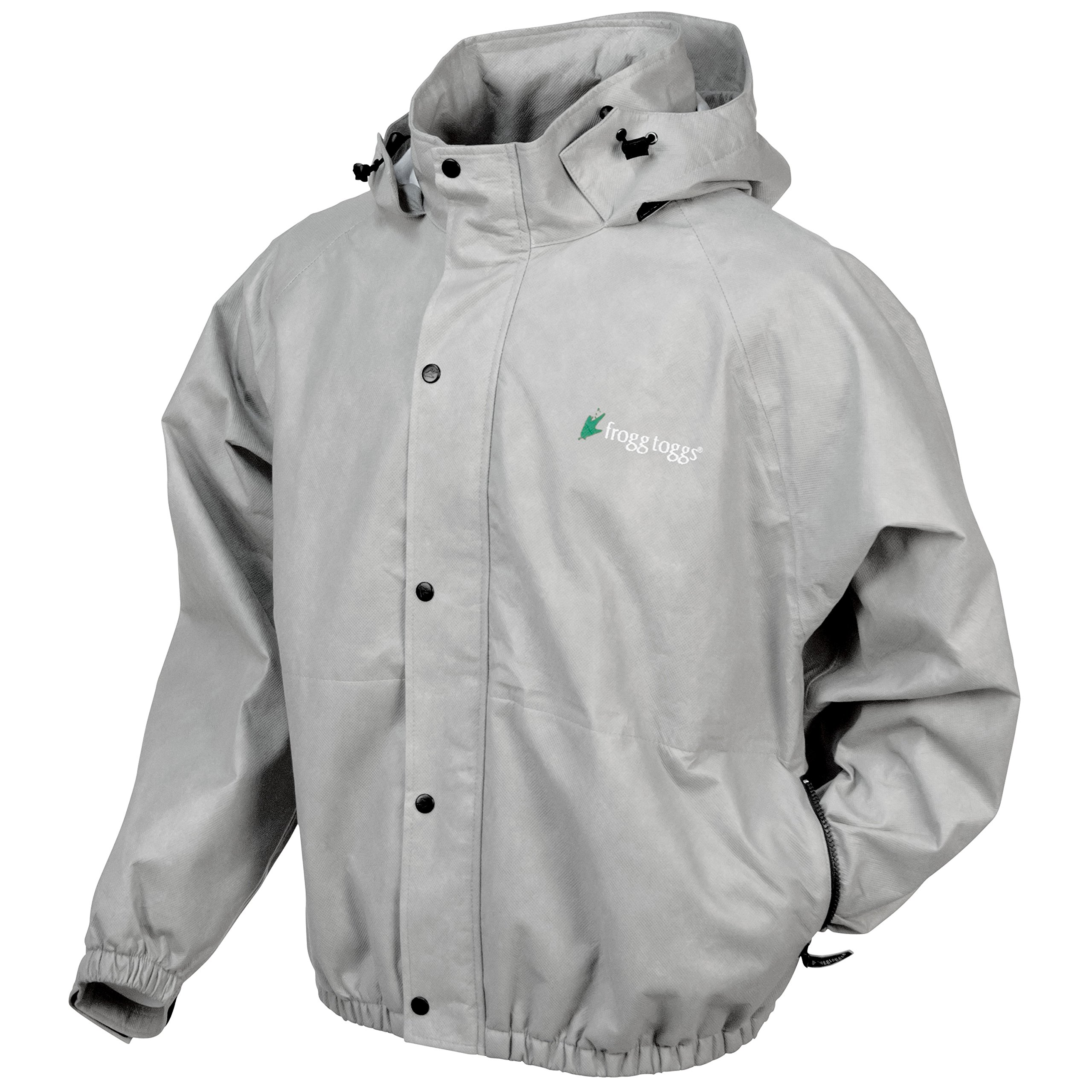 Frogg Toggs Classic Pro Action Jacket with Pockets, Cloud Grey, Size Small