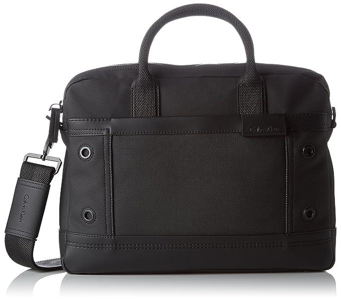 15797a84d5 Calvin Klein Men's EZR4 Laptop Bag, Black, 8x30x39 cm (b x h x t ...