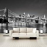 PAPIER PEINT PHOTO 'I Love New York 105' 366cm x 254cm Manhattan architecture colle inclu PHOTO MURAL Skyline noir et blanc