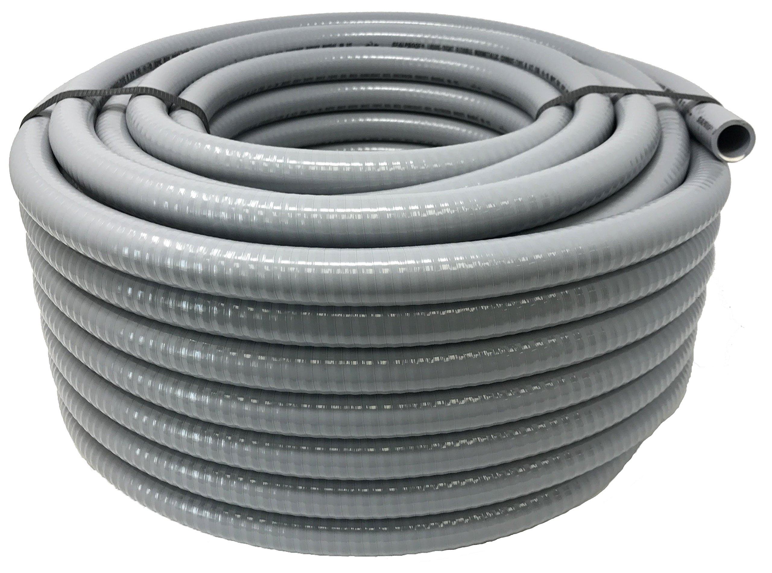 Sealproof 1/2-Inch Flexible Non-metallic Liquid-Tight Electrical Conduit Type B, UL Listed, 1/2'' Dia, 100 Feet
