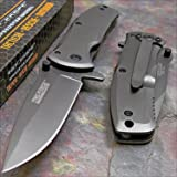 TAC-FORCE Grey TITANIUM Spring Assisted Open TACTICAL Folding Pocket Knife NEW!!