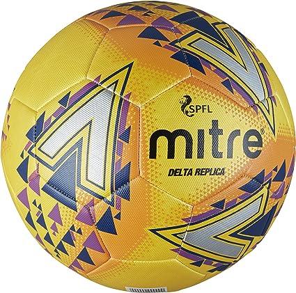 Mitre Mens Spfl Delta Replica Training Football - Yellow, Size 5 ...