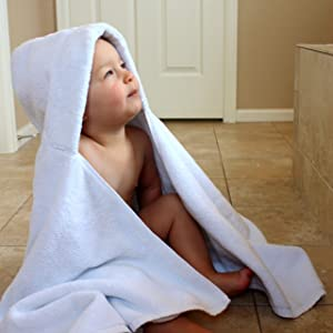 Image: Organic Turkish Cotton Hooded Baby Bath Towel | by The Good Baby | 100% GOTS CERTIFIED ORGANIC TURKISH COTTON | large enough for toddlers up to 5 years old | soft enough for your newborn