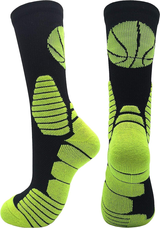 Cushioned Athletic Sports Crew Socks for Men Boy Women Girl Elite Basketball Socks
