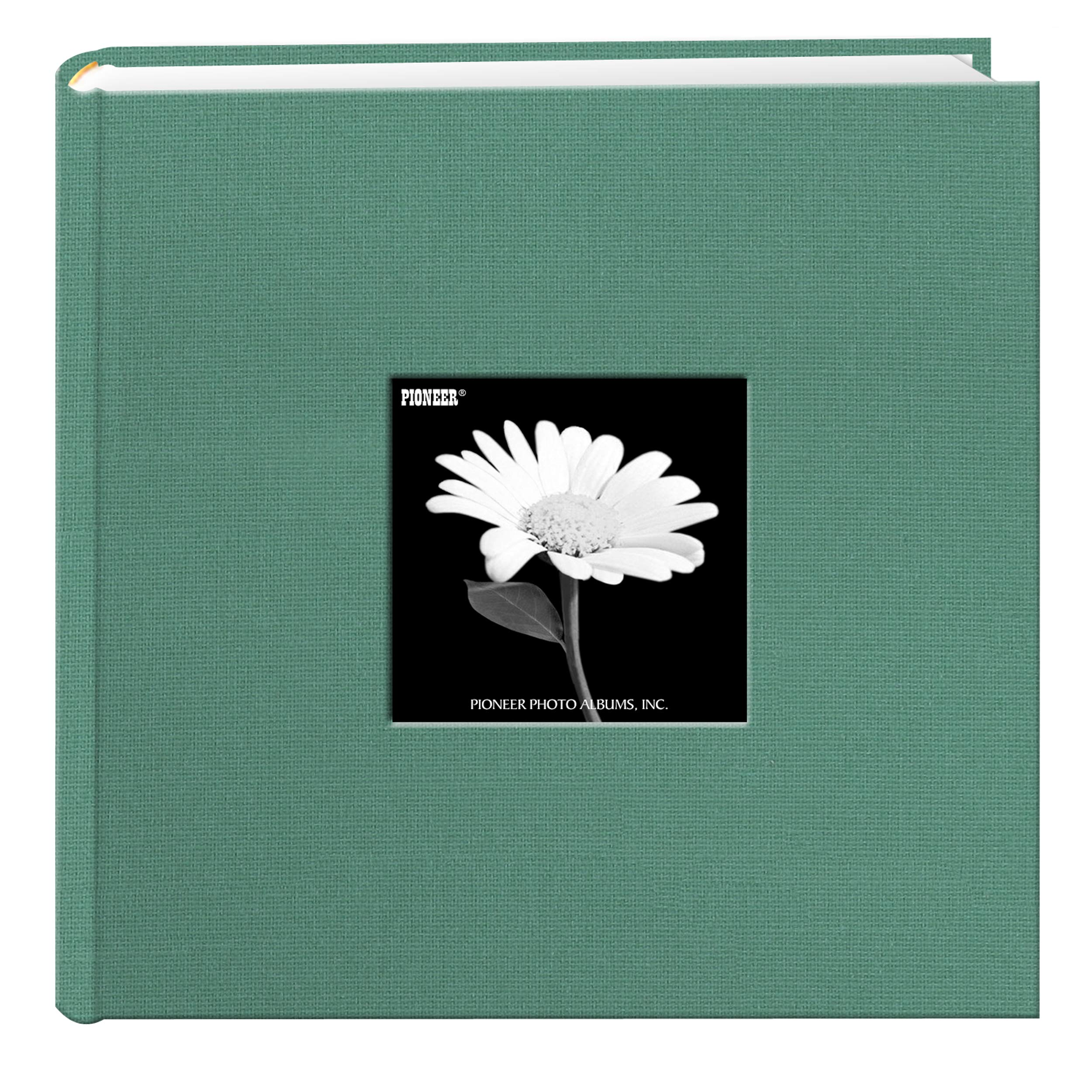 Fabric Frame Cover Photo Album 200 Pockets Hold 4x6 Photos, Tranquil Aqua by Pioneer Photo Albums