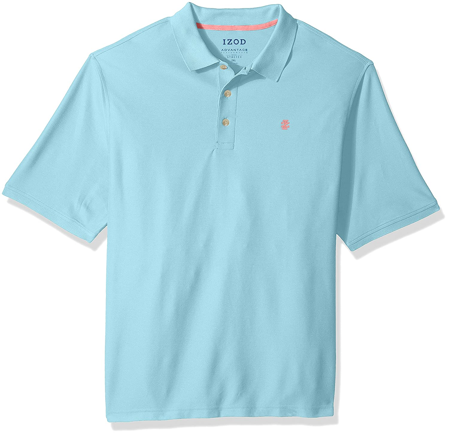 Izod Mens Big-Tall Big and Tall Advantage Performance Solid Polo