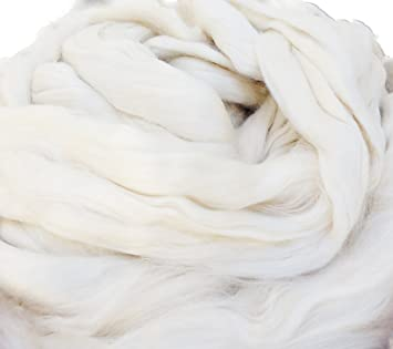 Amazon Com Yarn Place White Bamboo Fiber Combed Spin Roving 8 Oz