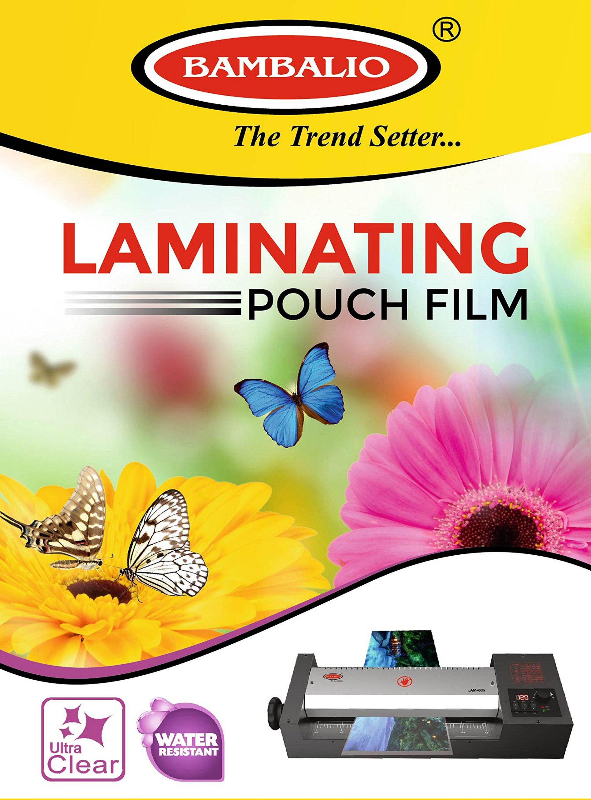 Bambalio Professional Thermal Laminating Pouch 65 X 95 mm Id Card Size - 250 Microns /200 Sheets LAM-625 (B074J5CYYZ) Amazon Price History, Amazon Price Tracker