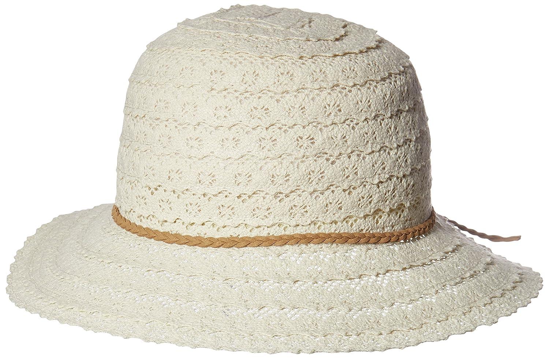 NYFASHION101 Open Knit Brown Braided Trim Vented Cotton Beach Sun Hat -  Beige at Amazon Women s Clothing store  278465d26c2