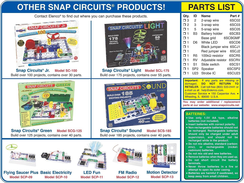 Elenco Electronics Scp 14 Snap Circuits Strobe Light Led Circuit Amazon Account Pinterest Sound Kit Toys Games