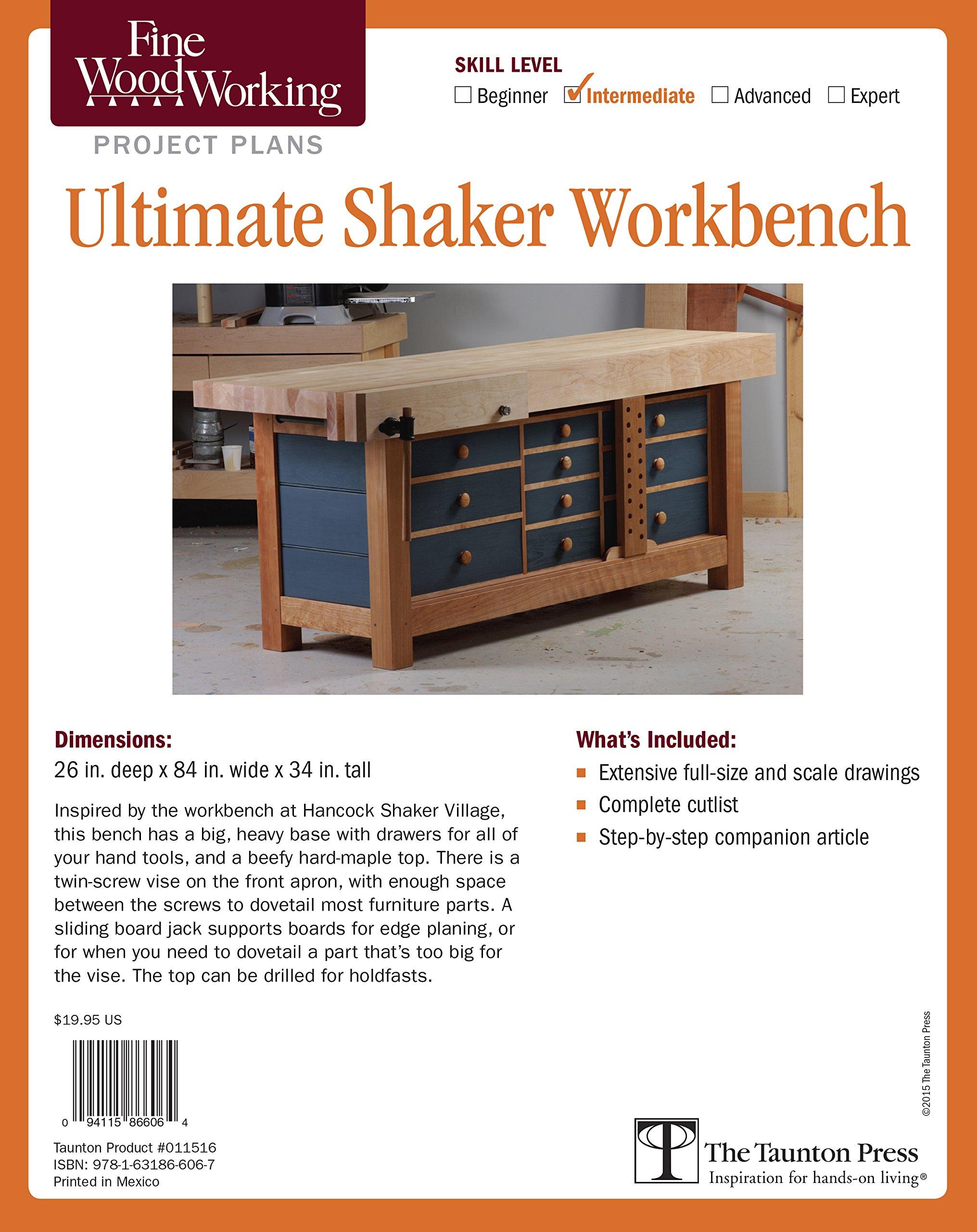 Fine Woodworkings Ultimate Shaker Workbench Plan Matt Kenney