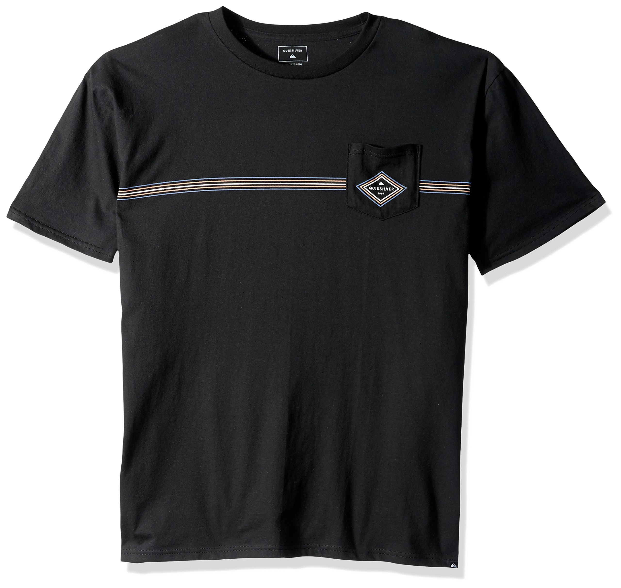 Quiksilver Men's Crosstown Tee Shirt, Black, XL