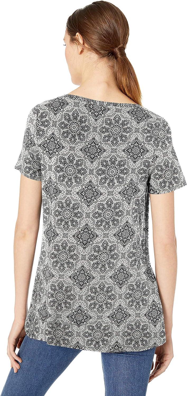 Essentials Damen-T-Shirt mit U-Ausschnitt