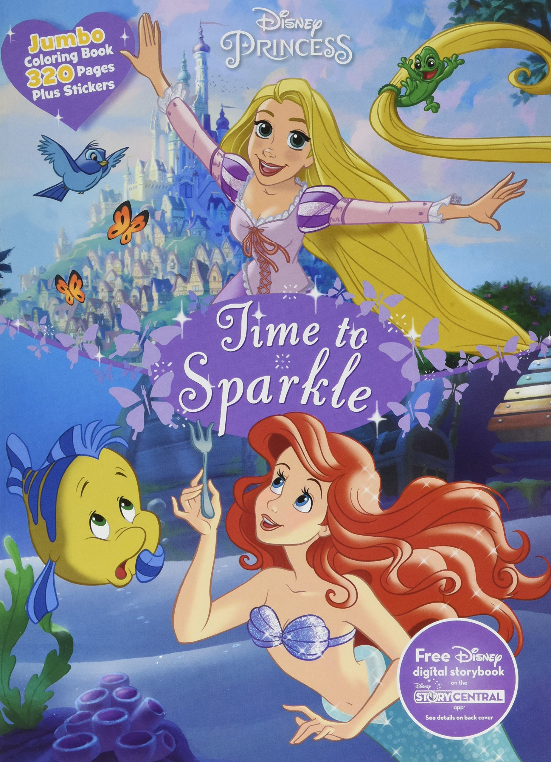 Disney Princess Time to Sparkle: Jumbo Coloring Book Plus Stickers ...