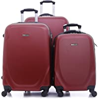 PARA JOHN 3 Pcs Travel Luggage Suitcase - Trolley Bag, Carry On Hand Cabin Luggage Bag - Lightweight Travel Bags, 360 4…