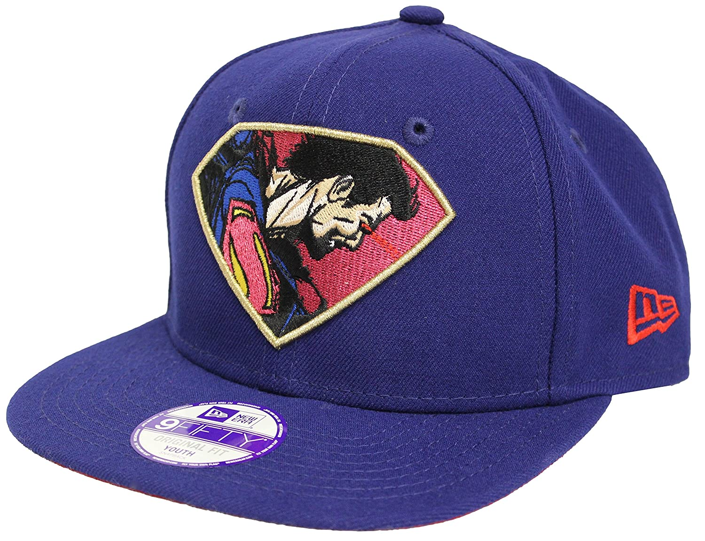 29628a79f6572 New Era 9Fifty Retroflect Superman Blue Youth Snapback at Amazon Men s  Clothing store