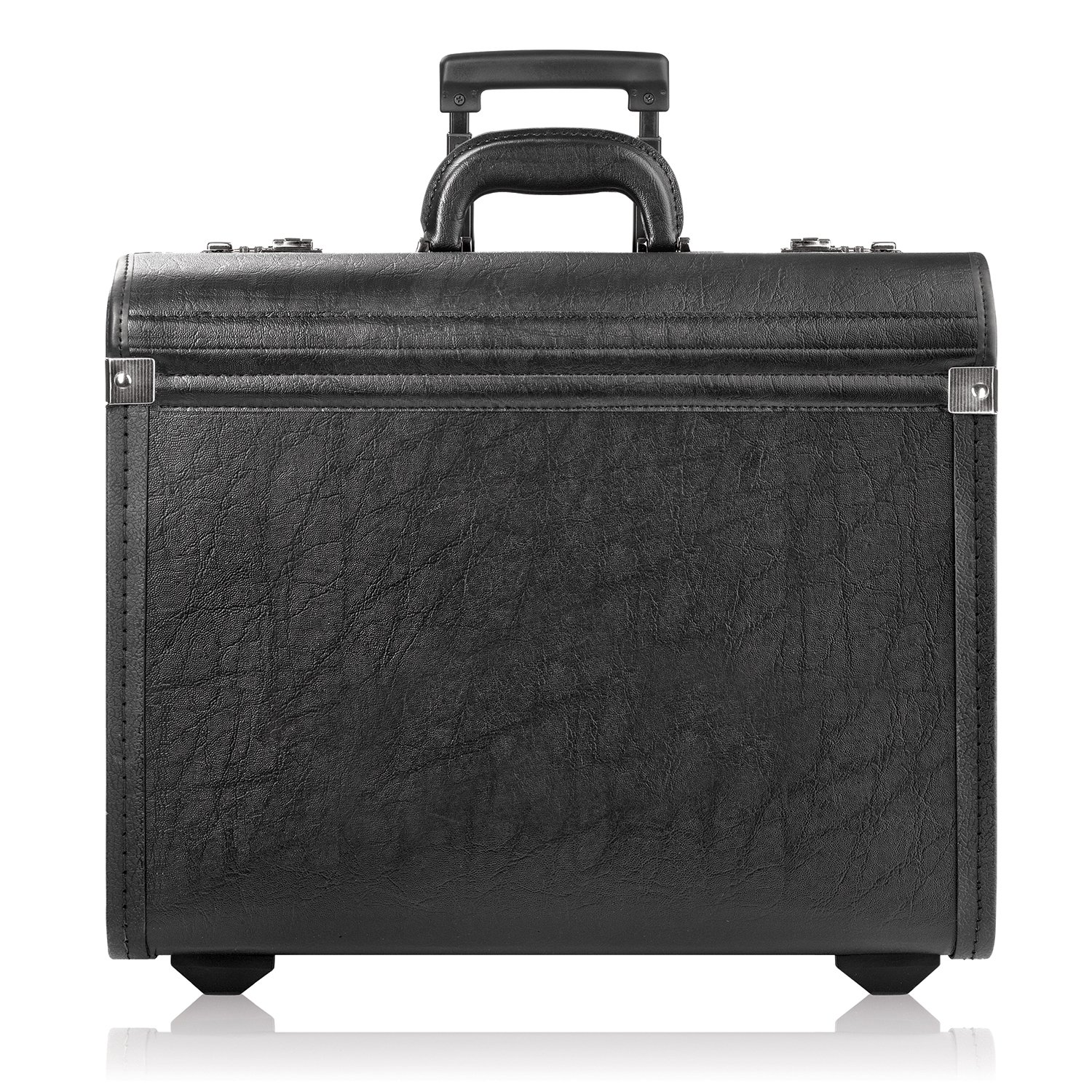 Solo New York Lincoln Rolling Catalog Case with Dual Combination Locks, Two Wheeled Catalog Case for Men and Women, Black by SOLO