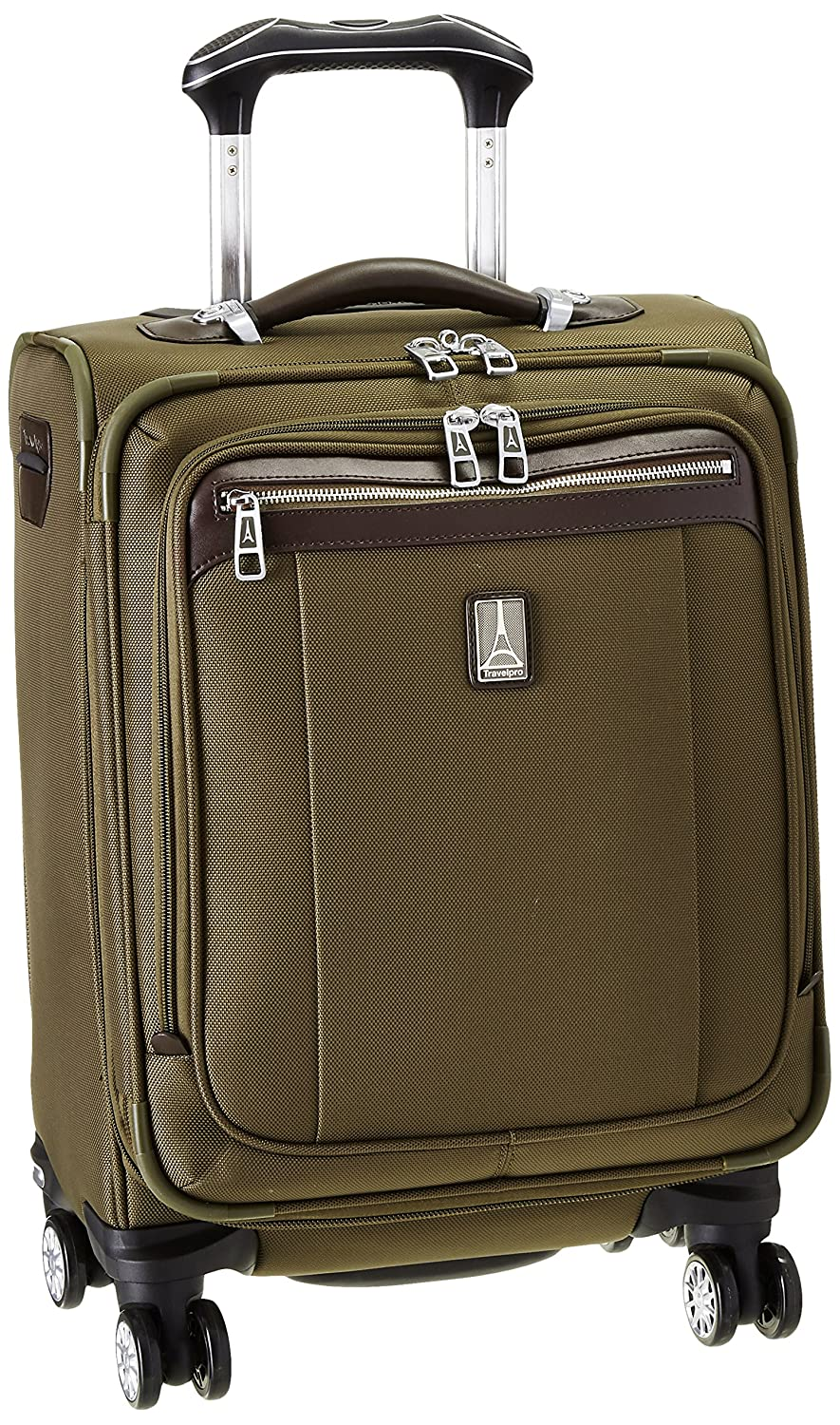 Travelpro PlatinumMagna2 International Carry On Expandable Spinner Carry On Suitcase, 20 In., Olive by Travelpro