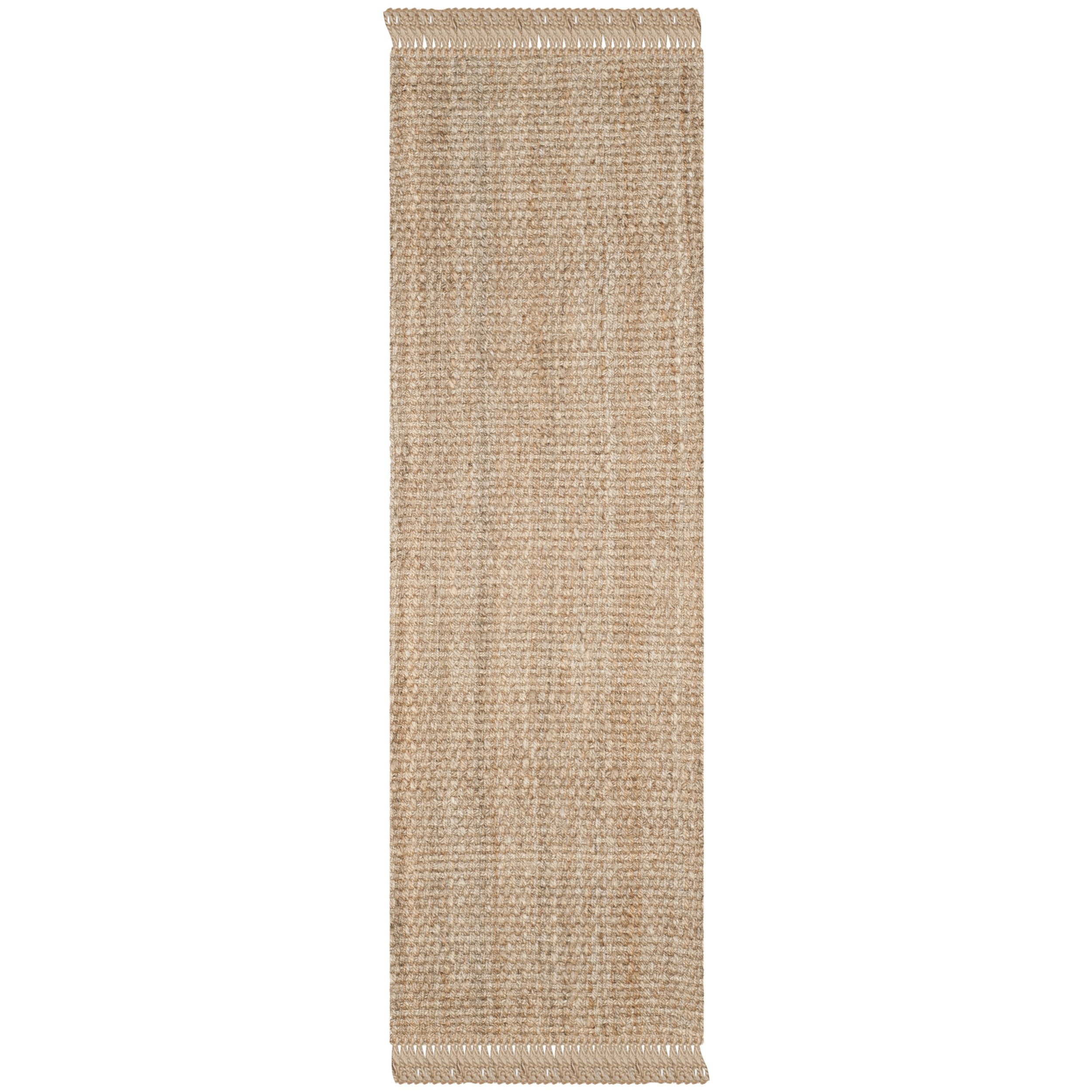 Safavieh Natural Fiber Collection NF467A Hand Woven Natural Jute Runner (2'6'' x 6')