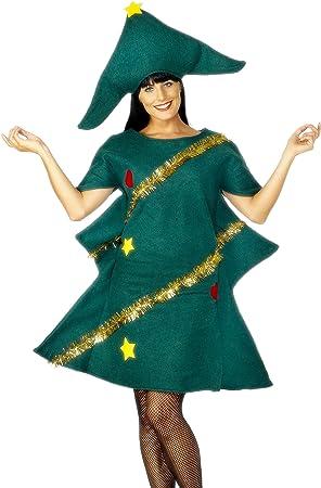 smiffyus disfraz de rbol de navidad para mujer talla nica sm