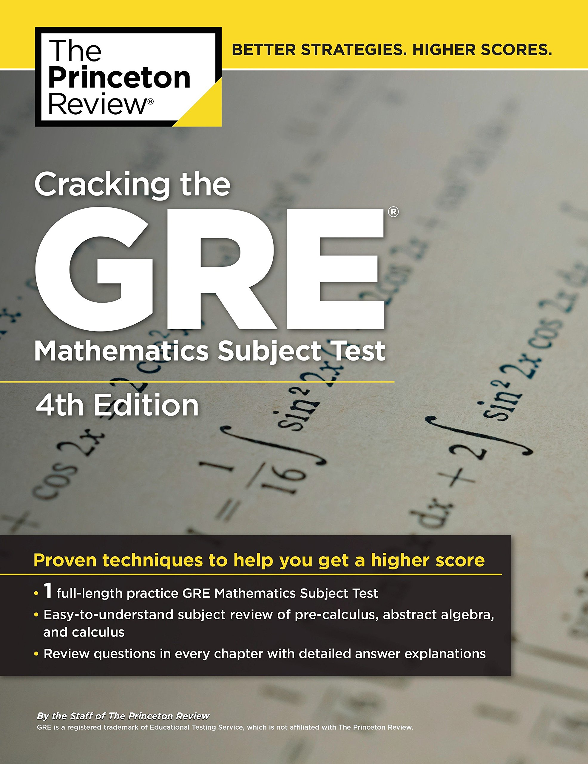 Cracking the GRE Mathematics Subject Test, 4th Edition by Princeton Review (Image #1)