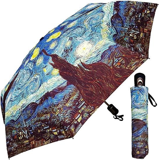 Amazon.com: Paraguas – Fine Art diseño: Starry Night by Van ...