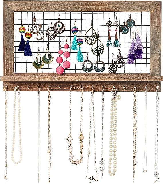 Colliers Et Bien Dautres Accessoires Porte Bijoux Mural Pour Boucles Doreilles Presentoirs Boites A Bijoux Et Presentoirs