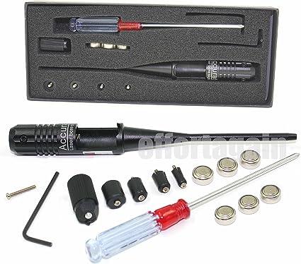 Hunting .22 to .50 Caliber Rifle Gauge Boresight Red Dot Laser Bore Sighter Kit