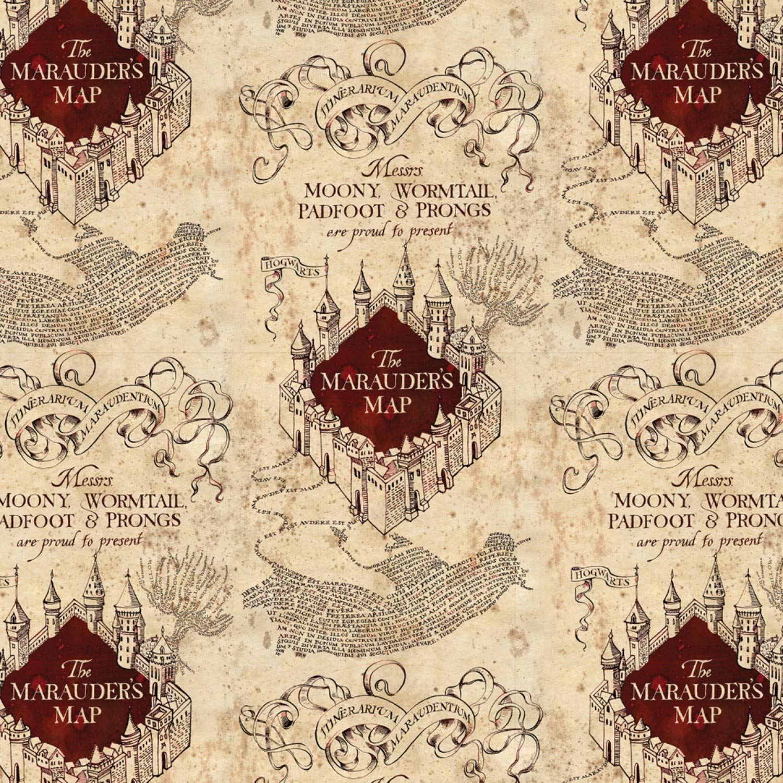 Tela de Jersey Mapa de Marauders CAMJER04-0.5 Metre Tejido de Punto de Jersey el/ástico Camelot Harry Potter Jersey Fabric
