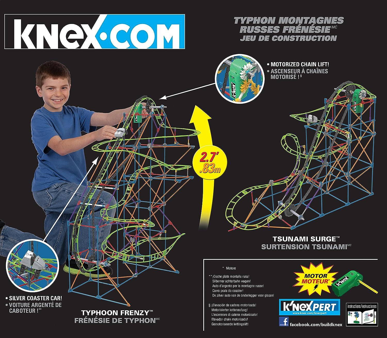 KNex Typhoon Frenzy Roller Coaster Building Set (51438): Amazon.es: Juguetes y juegos