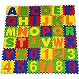 EduToys ™ Kids Children Alphabet Numbers Soft Learning Eva Foam Mat - Multi Colour