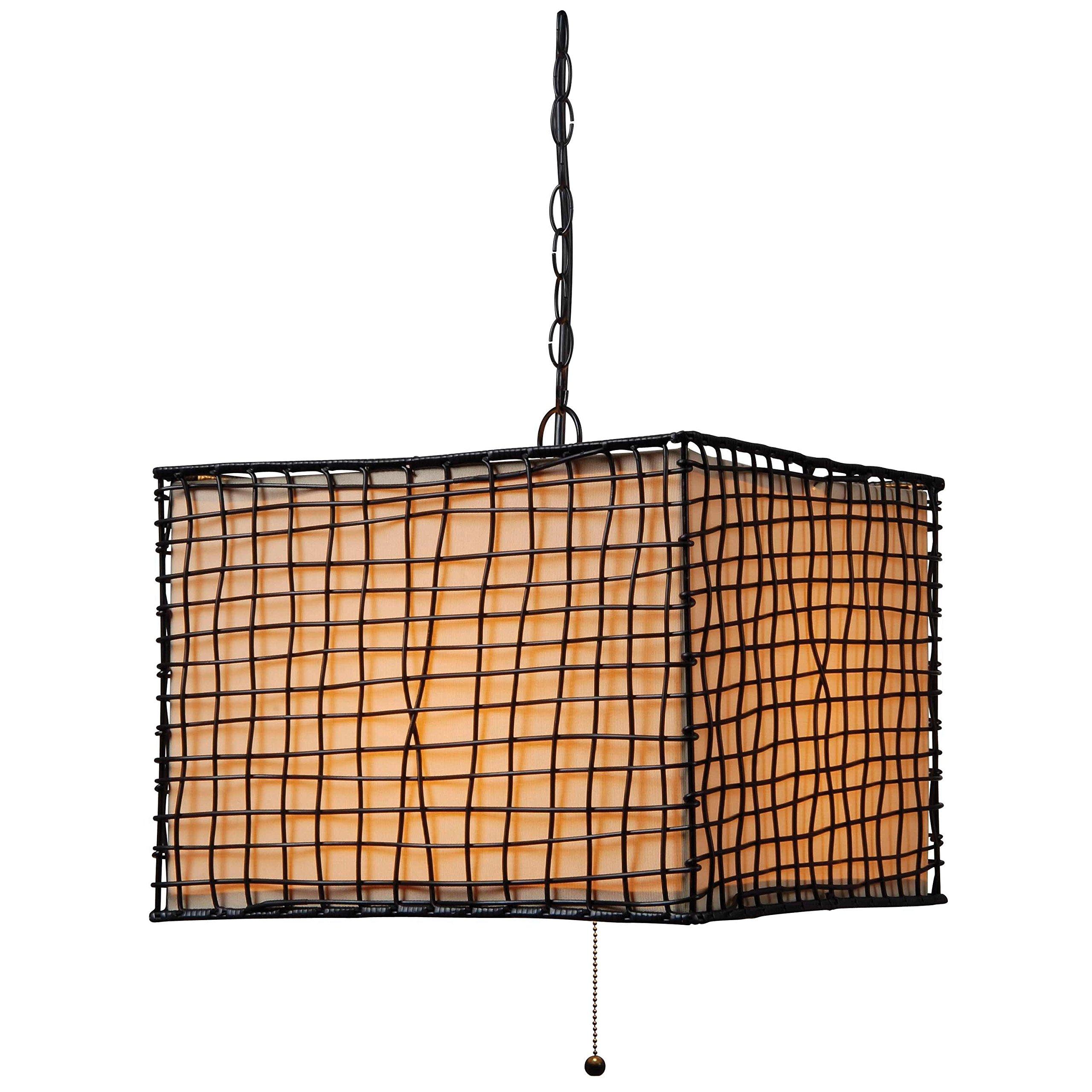 Design Craft Lyerly Indoor/ Outdoor Blackened Bronze 1-light Pendant