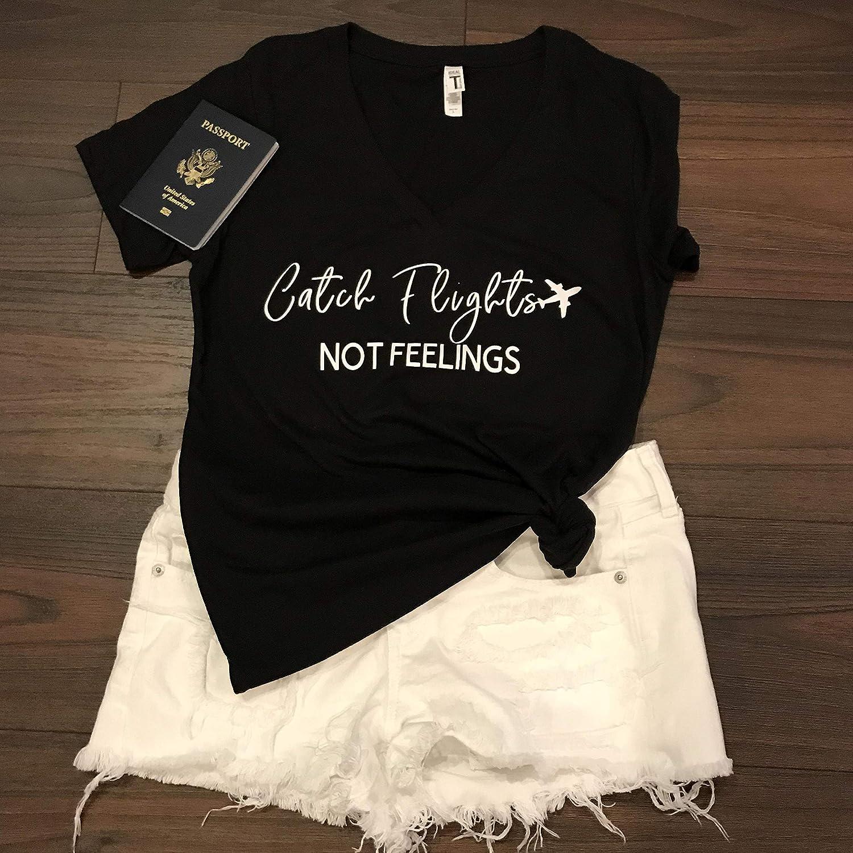 Birthday Gift Women Men Unisex Boys Girls Casual I Love Travel Tank Top 8 Catch Flights Not Feelin Shirt Feelings Shirt Traveling Mode Tshirt Long Sleeve Sweater Sweatshirt