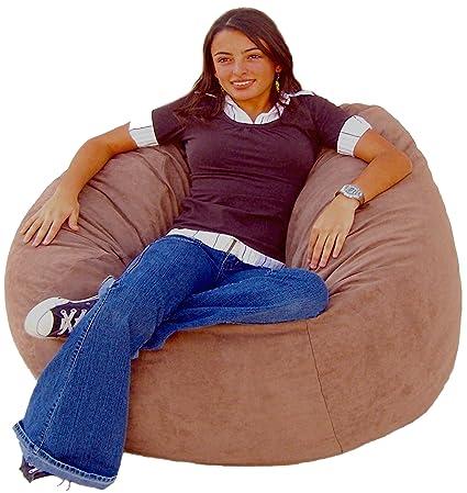Cozy Sack 4 Feet Bean Bag Chair, Large, Earth